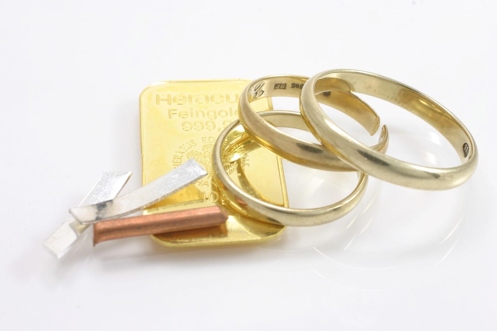 Material kann auch geliefert werden – Bruchgold, Münzen usw.