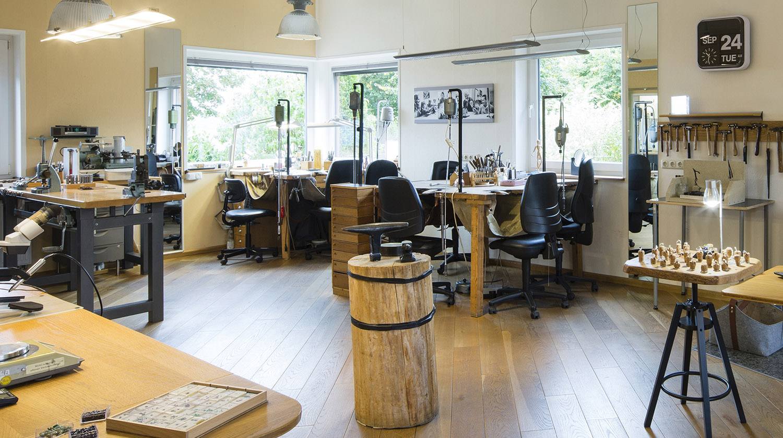 Unser Goldschmiede Atelier im Wendland bietet viel Platz für entspanntes und kreatives Arbeiten.