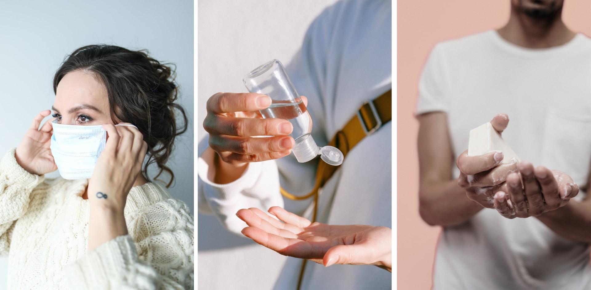 Hygienemaßnahmen, wie Hände regelmäßig zu waschen, eine Maske zu tragen und Desinfektionsmittel zu nutzen, sind uns während der Corona Pandemie wichtig.